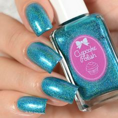 Blue Nail Polish, Blue Nails, Cupcakes, Luau, Swatch, Make Up, Beauty, Collection, Hair Ideas