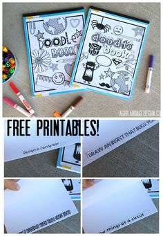 doodle book with free printables--great kid activity for quiet time and church! perfect for letting imaginations soar!