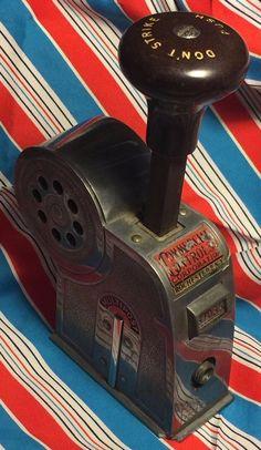ANTIQUE Vtg Multipost Stamp Affixer #35 Bakelite Numbering Industrial Steampunk
