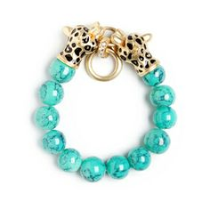 Saachi Style KEIRA BRACELET $38   $68   NEED ADVICE? Quantity:  	    add to bag  DESCRIPTIONSHIPPING & RETURNS Embrace your wild side and secure instant style cred with the Keira bracelet. - Glass beads, gold vermeil cougar fob, cz's - Stretch fit