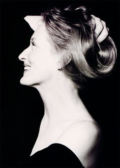 Meryl Streep (1949) - American actress (theatre, film, TV). Photo by Herb Ritts