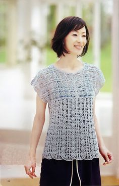 CARAMELO DE CROCHET: blusa japonesa