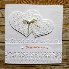 Ritorno questa mattina con una card fresca di giornata. E' una card per una ragazza che si sposa sabato, sicuramente non è molto originale...