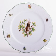 Dinner Plate – Hunter Trophies | Herend Experts Dinnerware Ideas, Dinner Sets, Forest Animals, Serving Plates, Animal Design, Fine China, Dinner Plates, Buffet, Dishes