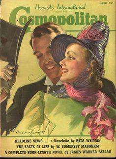 "Cosmopolitan magazine APRIL 1939 Model: Phyllis Brown  Artist: ""Easter Parade"" Bradshaw Crandell."