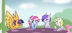 Girl Talk by kilala97 on deviantART<< cotton candy: we know you like Golden apple Star Starburst: N-NO I DONT!!!
