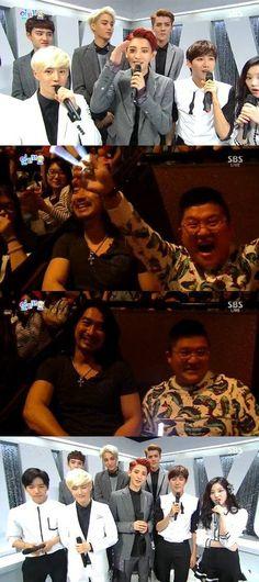 Shin Sung Woo and Jo Se Ho show up on 'Inkigayo' to support Chanyeol  #chanyeol #sbsroomate #kpopnews #inkigayo #sbs #exo #exok #exoroomate