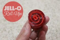 Kids love eating and making these fun Jell-O roll-ups!