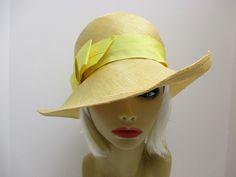 Vintage Hat Mr. John Moderne, Yellow straw hat fedora, Boho hat by VintageWearTreasures on Etsy https://www.etsy.com/listing/191861725/vintage-hat-mr-john-moderne-yellow-straw