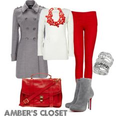 Red, White, & Gray outfit