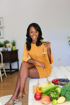 Green Juice is Sexy!!! photo pf Jovanka Ciares, health coach, by Caroline White Photography