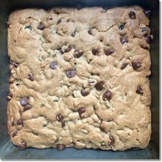 Red Grapeseed Chocolate Chip Cookie Bars Recipe