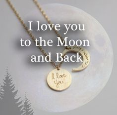 BEUNIKI - I LOVE YOU TO THE MOON AND BACK - NECKLACE