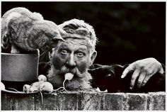 By Don McCullin. 'Snowy, Cambridge, early Growing up in Cambridge Snowy and his one man band and animals was a fixture of Lion Yard Photography Exhibition, War Photography, Street Photography, Classic Photography, Monochrome Photography, Documentary Photography, People Photography, Foto Art, National Museum