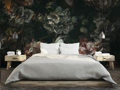 Home Accents, Walls, Interior Design, Wallpaper, Bed, Floral, Inspiration, Furniture, Home Decor
