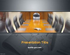 Free Conference Room PowerPoint Template is a free PPT template for business presentations with a catchy image of a meeting room or conference room