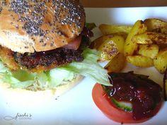 fischis cooking and more: veggie burger mit bärlauch - bbg sauce