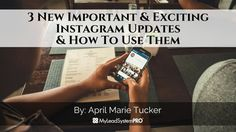 Did you see the new updates Instagram just released yet? Instagram has been busy these last few months and has already released some pretty major updates t