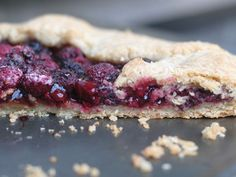 Gluten-free raspberry galette. Sounds perfect.