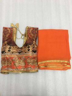 Pure Georgette zari border saree with digital print