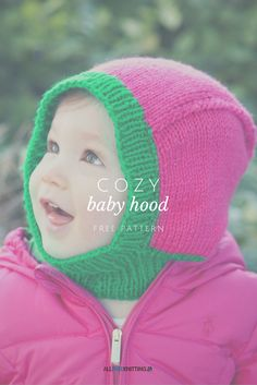 Cute pattern for little ones - great for those jackets that don't have a hood/the hood doesn't protect the sides of their face. Free knitting pattern.