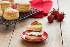Gâteaux sablés aux fraises de la fête du Canada