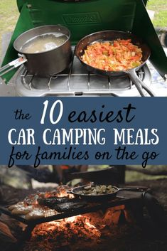 Looking to add some variety to your camping meals? Here are our favorite easy car camping meals for families on the go. Just in time for camping season. Auto Camping, Camping Hacks, Tent Camping, Outdoor Camping, Camping Checklist, Camping Gadgets, Camping Guide, Glamping, Camping Trailers