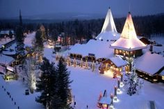 Arctic Circle & Santa Claus Village in Rovaniemi in Lapland, Source: Next Trip Tourism Santa Claus Village, Santa's Village, Santa Clause, Igloo Village, E Dublin, Christmas Destinations, Travel Destinations, Travel Tourism, Travel Tips