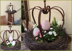 Are you planning a rustic wedding in the forest? These centerpieces are e - Bepflanzung Easter Tree, Easter Wreaths, Decoration Table, Tree Decorations, Japanese Poster Design, Deco Floral, Holidays And Events, Pin Collection, Spring Time