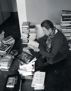"""meemalee: """" berlin-1976: """" David Bowie photographed by Jimmy King, 2013 """" Bowie and his books!  """""""