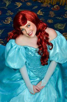 ariel the little mermaid Ariel Disney World, Disney Princess Ariel, Disney Parks, Princess Aurora, Ariel Cosplay, Disney Cosplay, Disneyland Face Characters, Disney Characters, Disney Princesses And Princes