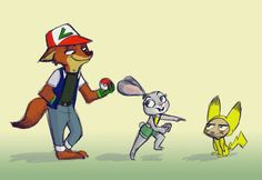 Pokemon go is becoming popular everywhere, even in Zootopia!