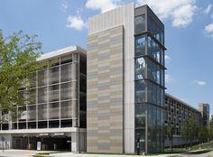 IUPUI Sports Complext Parking Garage Terra Cotta Wall Cladding & Sunshades Piterak Slim 30 Wall Tiles and Zonda XL Sunshades