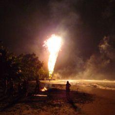 Oudjaarsavond op het strand van Costa Rica