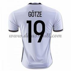 Nationaltrikot Deutschland 2016 GOTZE 19 Kurzarm Heim Fußballtrikots