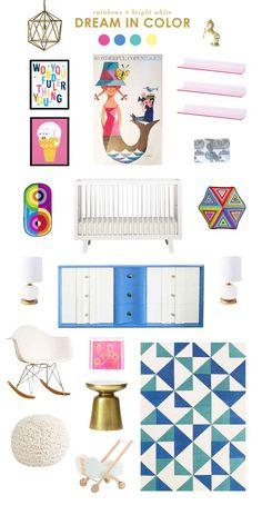 dream in color with Mermaids \ Lay Baby Lay Girl Nursery Colors, Baby Room Colors, Nursery Design, Nursery Themes, Nursery Ideas, Nursery Decor, Bedroom Decor, Boy And Girl Shared Bedroom, Girl Room