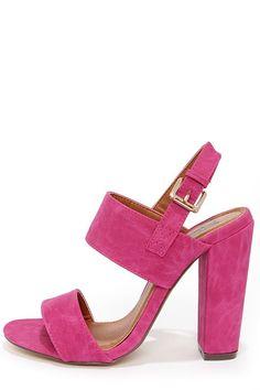 Fuchsia High Heel Sandals//