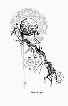 Sisyphus tattoo concept