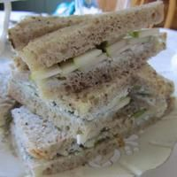 Image of Pear And Gorgonzola Tea Sandwiches Recipe from Cook Eat Share