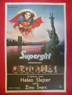 SUPERGIRL 1984 HELEN SLATER FAYE DUNAWAY SCI-FI RARE EXYU MOVIE POSTER
