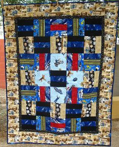 I Want to Be a Police Officer When I Grow Up – Lap or Child-Size Quilt on Etsy, $130.00