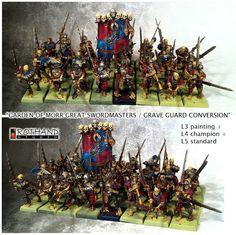 Rothand Studio: Garden of Morr Great swordmasters / grave guard CO...