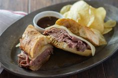 This French Dip sandwich features sous vide top round steak. Top round is the most tender of the beef round meats, and is made even more tender when cooked for four hours in the Anova Sous Vide Precision Cooker.