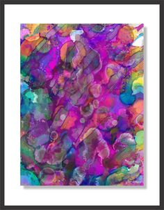 Layered alcohol inks . . .