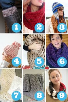 Squishy, Chunky, and Super Bulky Yarn Knitting Patterns