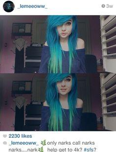 blue hair, hairstyles, blue ombre, ombre, emo part Emo Scene Hair, Emo Hair, Nu Goth, Pelo Emo, Goth Make Up, Style Rock, Rocker, Alternative Hair, Dye My Hair