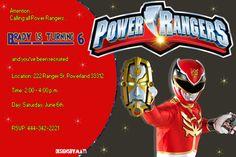 Power Ranger birthday party invitation