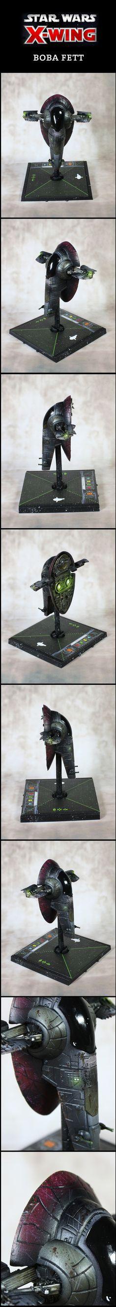 X-Wing Miniatures Boba Fett Firespray