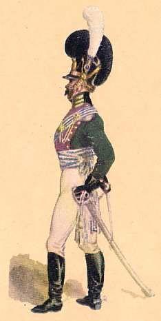 Bavaria: Captain  2nd Chevau-Leger Regiment (Taxis): 1811