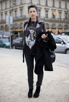 style blogger embracing the rocker look